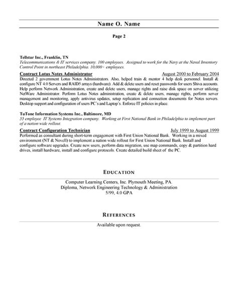 Ccna Resume Sample by Network Administrator Resume Example