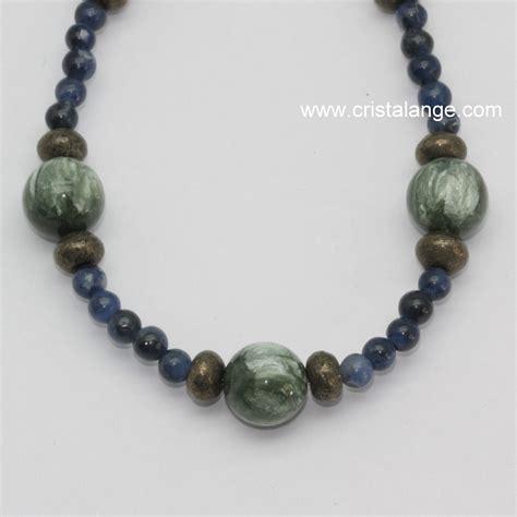 Seraphinite Pyrite And Sodalite Necklace Semi