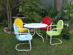 Metal Patio Furniture Vixen Vintage Summertime Retro Patio