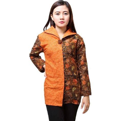 Atasan Wanita Blus Katun Kemeja Lengan Panjang G 039 1593 20 model baju batik atasan lengan panjang wanita modern 2018 mangklingi