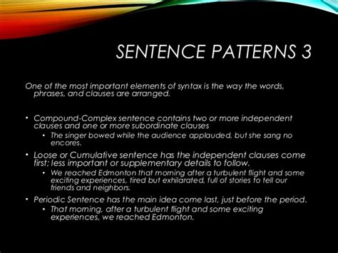 sentence pattern periodic syntax sentence construction motheo mkize