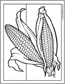 corn coloring pages for thanksgiving corn coloring pages for thanksgiving coloring page