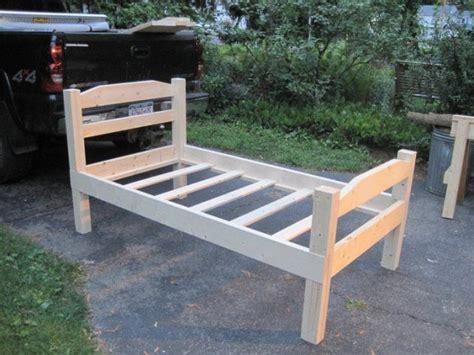 diy wooden bedframe diy wood twin bed frame plans