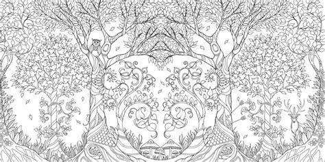 coloring pages for adults enchanted johanna basford enchanted forest secret garden addictive