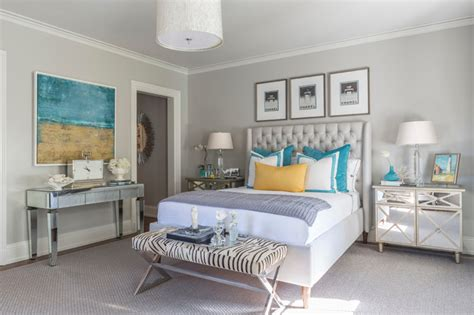 Turquoise And Gray Bedroom Decor by Turquoise Blue Bottles Contemporary Bedroom