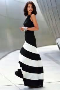 Black White Chiffon Stripe Sleeveless Maxi » Ideas Home Design