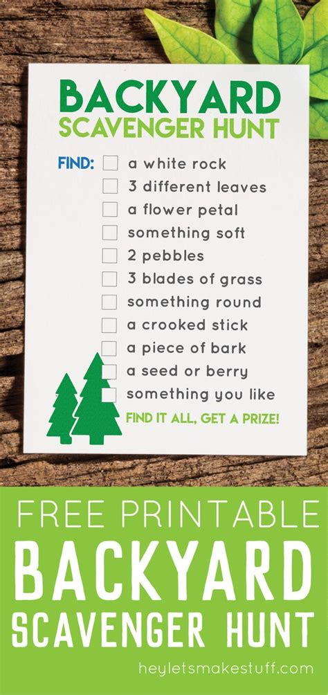 backyard scavenger hunt list best 25 backyard scavenger hunts ideas on pinterest