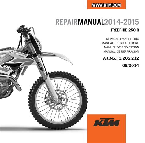 Ktm Parts Aomc Mx Ktm Cd Repair Manual Freeride 250 R Us 2014 2015