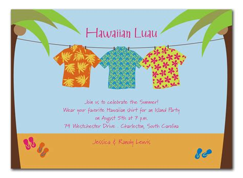 card template hawaian birthday jazlyn hawaiian shirts invitations by invitation