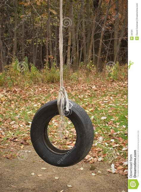 tire rope swing tire swing stock image image 34701