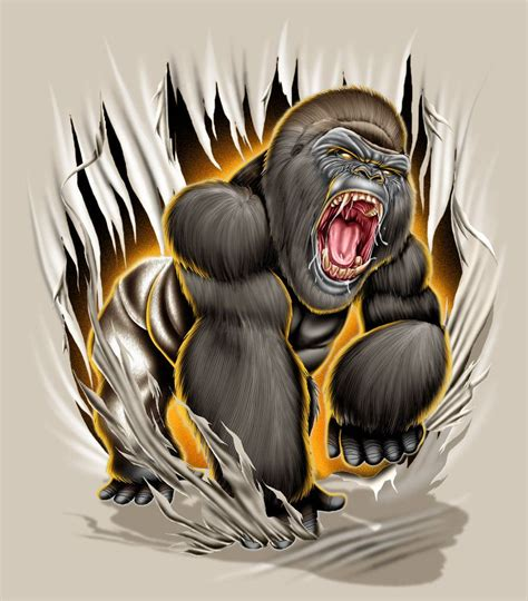 gorilla tattoo designs gorilla mad by brown73 gangsters and