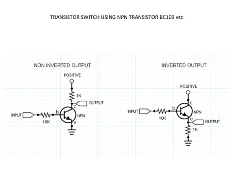 npn transistor used as a switch transistor switches
