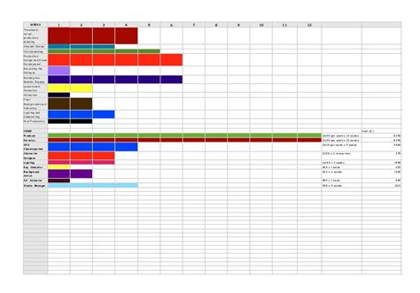 Animation Production Schedule Animation Production Schedule Template