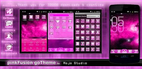 android themes pink pink fusion go launcher theme free apps android com