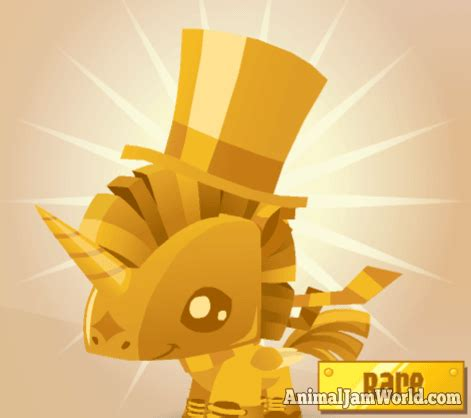 pet golden pony rare aj pet code animal jam world