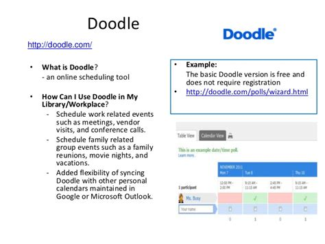 doodle poll wizard library 2 011 free web tools for libraries cheryl peltier