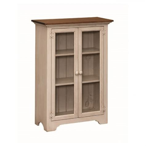 Small Bookcase White Pine Small Bookcase With Glass Doors Amish Pine Small