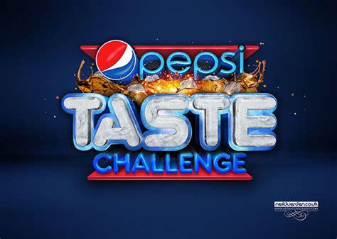 taste challenge pepsi taste challenge 3d typography on behance