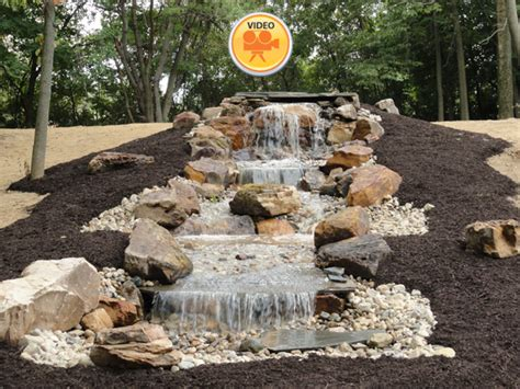 Patios With Fire Pits Designs Waterfalls And Streams Greenwood In Landscape Design