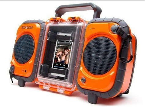 rugged boombox grace digital rugged waterproof stereo boombox iphone mp3 cing tra