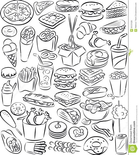 food clipart black and white fast food clipart black and white 101 clip