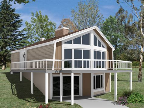 House Plans With Daylight Walkout Basement skyliner a frame vacation home plan 008d 0151 house