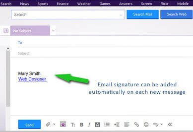 email yahoo upgrade how to add or update email signature yahoo