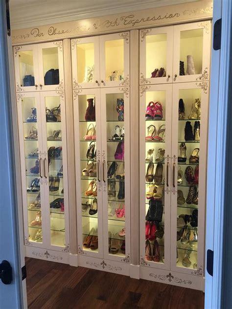 Glass Closet Shelves by Glass Shoe Shelves Design Ideas