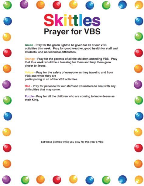 printable children s prayers skittles prayer for vbs volunteers children s ministry deals