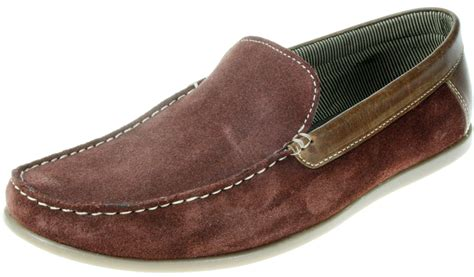 mens brown loafer shoes mens burgundy brown slip on leather suede boat