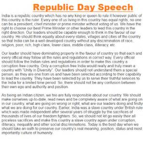 Essay On Republic Day In For Class 2 by 26 January Republic Day Speech In For Students
