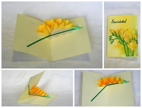 Origami Flower Pop Up Card - flower pop up cards on behance