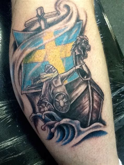 viking ship tattoo viking ship on forearm t bones tattoos skinscapes ny