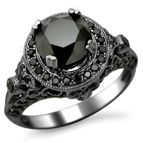 Black Ring 01 Black black gold rings black gold rings ruby and