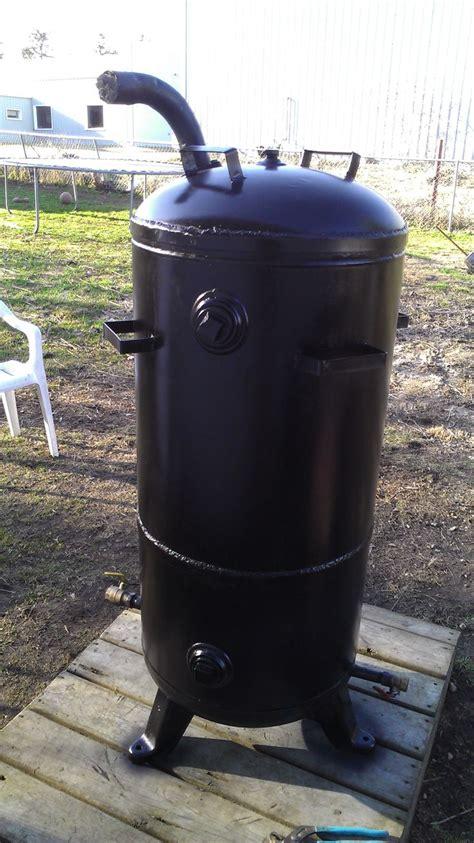 home made smoker plans homemade vertical smoker propane smoker and food pinterest