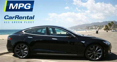 Rent A Tesla Los Angeles Mpg Car Rental Adds Tesla Model S To La Fleet