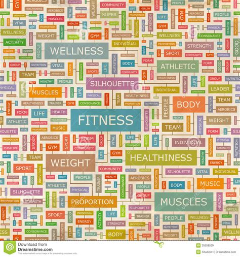 el pattern words fitness stock photo image of active fitness infographic