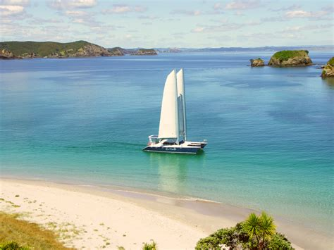 sailing boat hire new zealand cool change charter boat bay of islands 54ft catamaran