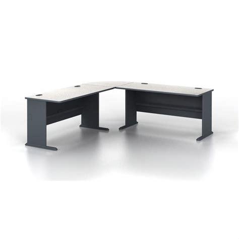 Bush Business Series A 3 Piece L Shape Computer Desk In Slate Laptop Desk