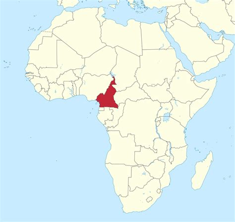 yaounde africa map 11 things you should about cameroon s world cup team