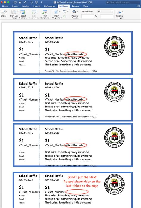 printable raffle tickets 15 ticket templates in microsoft word mail