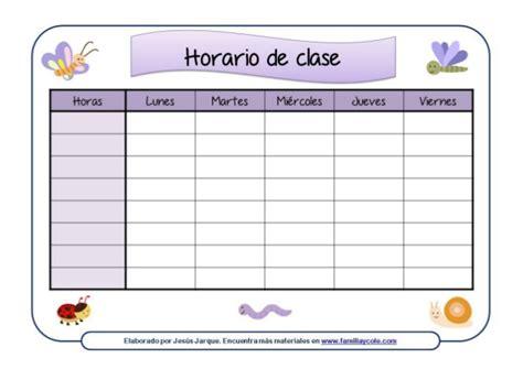horario de clases para imprimir modelos de horarios escolares
