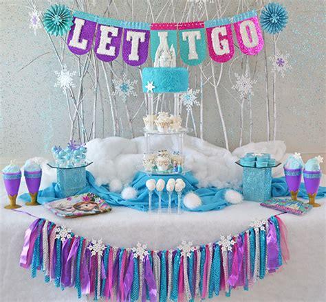 Frozen Birthday Decoration Ideas by Quot Frozen Quot Decor Evite