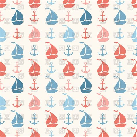 cute anchor pattern seamless pattern with cute anchor and sailboat royalty