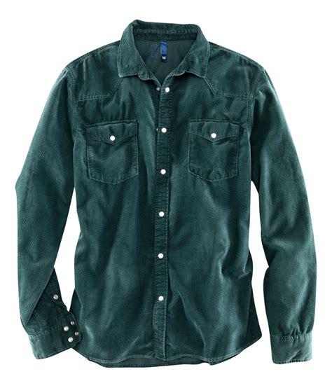Corduroy Shirt lyst h m corduroy shirt in green for