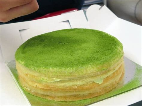 new year green tea cake 6 green tea milk crepes picture of m cake