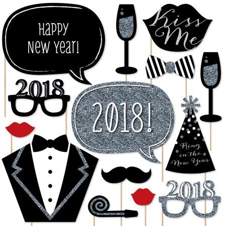 new years 2018 party favors new years silver 2018 new year decorations photo booth props kit 20 count