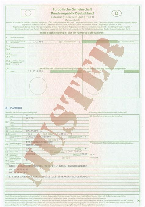 Auto Brief by Fahrzeugbrief