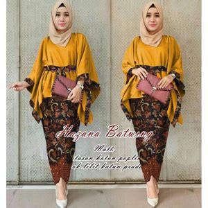 Set Batwing Kebaya Batik setelan baju kebaya batwing dan rok batik muslim panjang