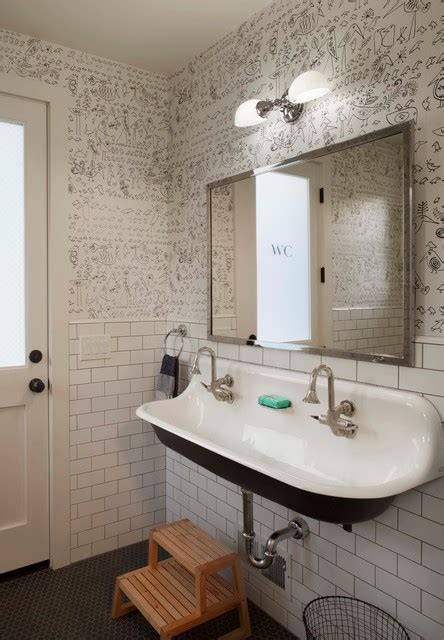 Half Bathroom Tile Ideas by Modern Farmhouse Farmhouse Bathroom San Francisco